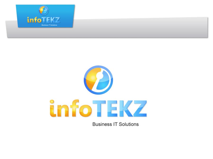 Logo Design Contest Entry #63 for Logo Design for INFOTEKZ  (Please Try 3D Logo/Font) : Please see attached vector image