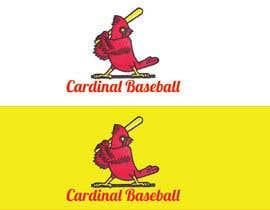 nº 15 pour Design a Cardinal Baseball Logo par mijan7
