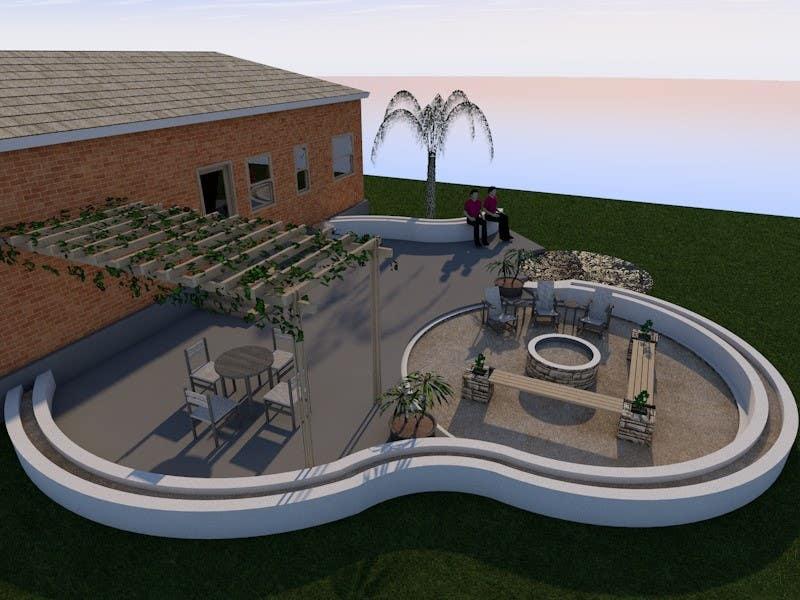 Proposition n°7 du concours 3D Modelling - Backyard Vision Layout