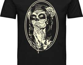 nº 21 pour Design a T-Shirt  with a Sugar skull logo style theme par javierlizarbe