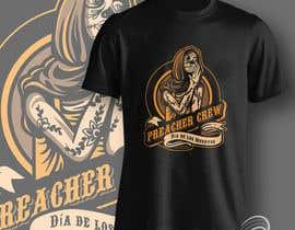 nº 53 pour Design a T-Shirt  with a Sugar skull logo style theme par aghits
