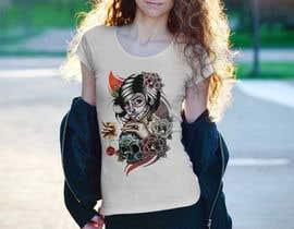 nº 44 pour Design a T-Shirt  with a Sugar skull logo style theme par designernayma992