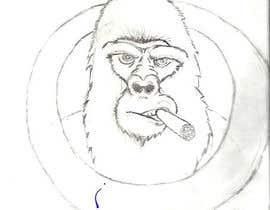 nº 9 pour Gorilla smoking cigar par AlexWebpuro