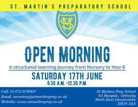 #19 for Design a flyer for open morning June 2017 by mhmijan