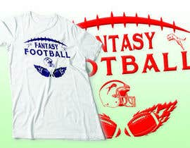 nº 2 pour Typography Tshirt Design for Fantasy Football par ttokder