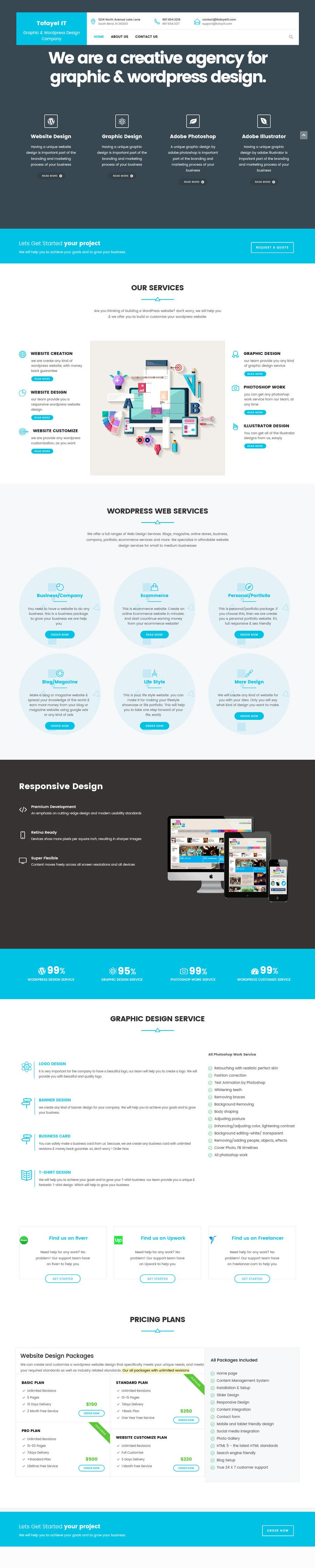 Proposition n°2 du concours Create a WordPress Template