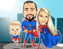 nº 10 pour Personalized superhero drawing par kaliuser54