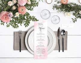 nº 23 pour Design a wedding menu par MichaelMeras