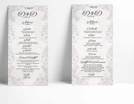 nº 27 pour Design a wedding menu par raciumihaela