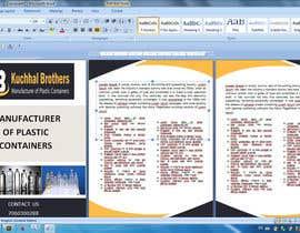 nº 2 pour Design a Brochure for Plastic Container Manufacturer par Bshah7