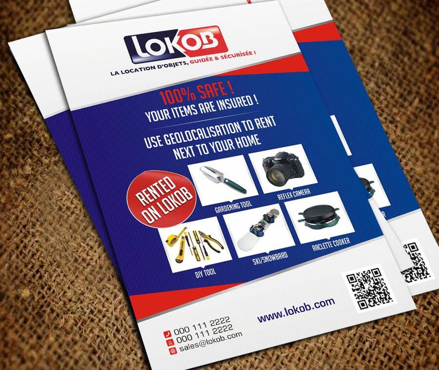 Konkurrenceindlæg #                                        37                                      for                                         Advertisement Design (Flyer/A4) for a New Start-up (Lokob.com)
