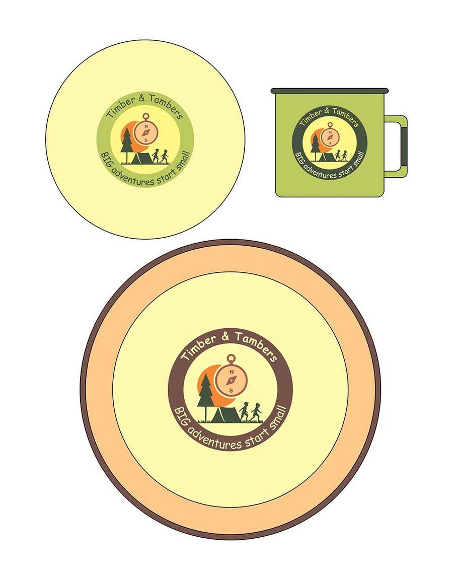 Proposition n°10 du concours Timber and Tamber children's camping and outdoor wear - enamel dinner set