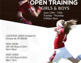 nº 2 pour URGENT Design a Flyer Advertising Open Training for our Club par fadovicattia