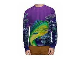 nº 25 pour T shirt fishing Graphic Design par EchoDesigns