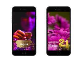 nº 7 pour Design a Birthday Snapchat Filter par ATHULAB