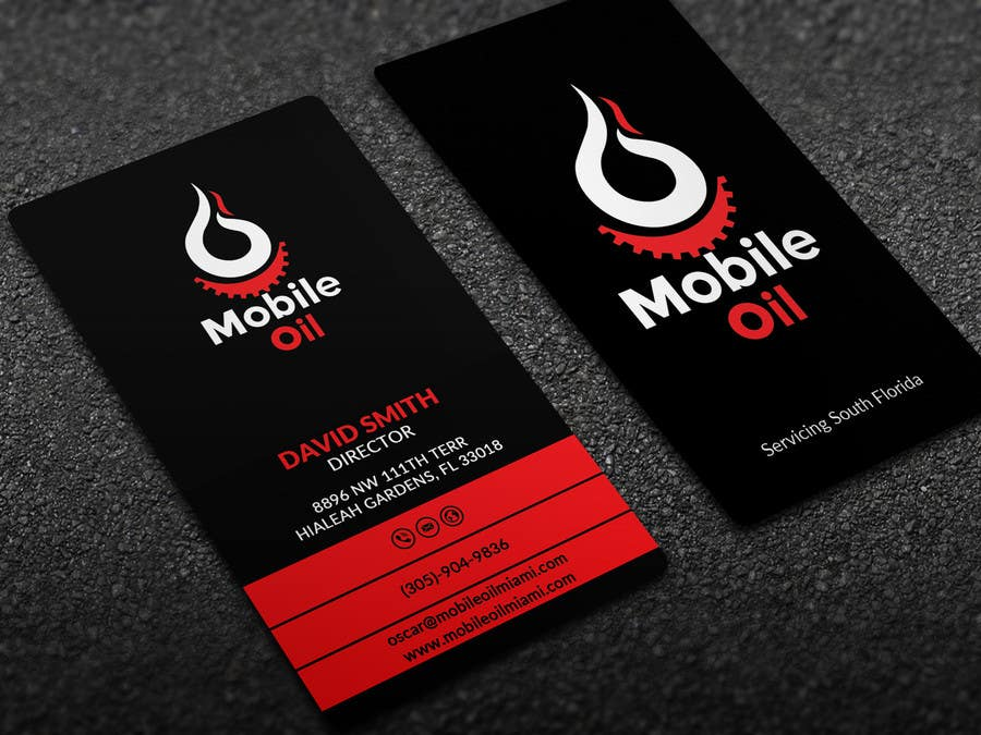 Contest Entry 43 For Design Some Business Cards A Mobile Oil Change Company