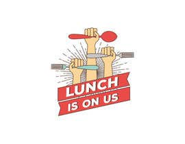 nº 607 pour Lunch Is On Us Logo par vialin