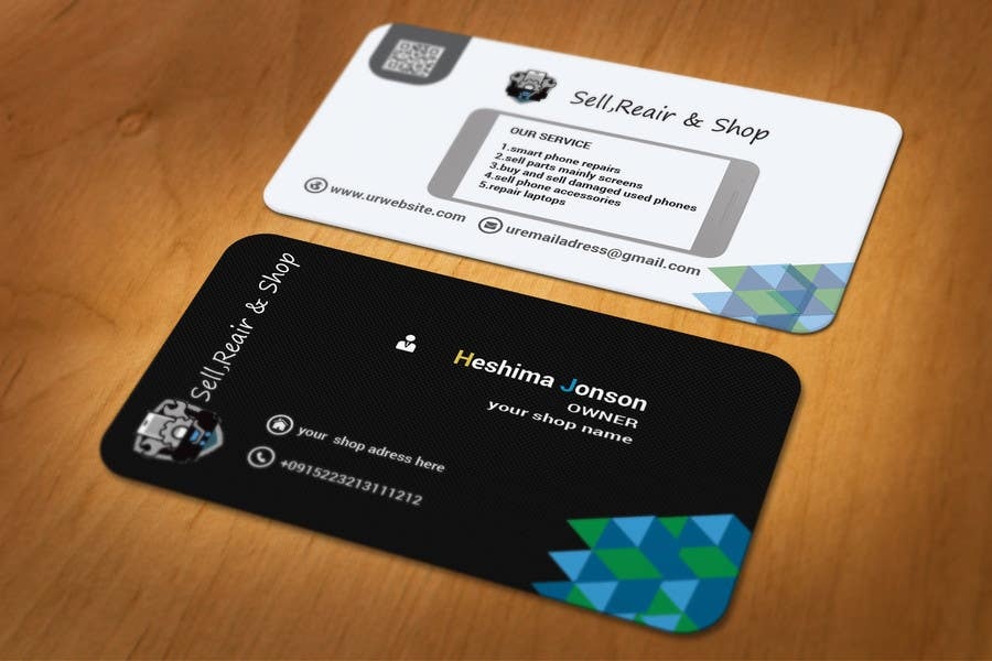 Entry #31 by shahed367 for business cards for mobile repair and