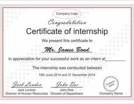 Design internship certificate freelancer 46 for design internship certificate by hayesnch yadclub Images