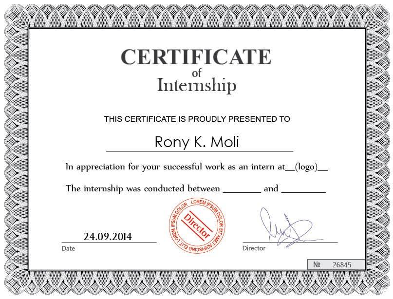 Entry 42 by nadirsetif for design internship certificate freelancer contest entry 42 for design internship certificate yadclub Choice Image
