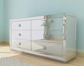 nº 40 pour 3D model this mirrored dresser par Fgny85