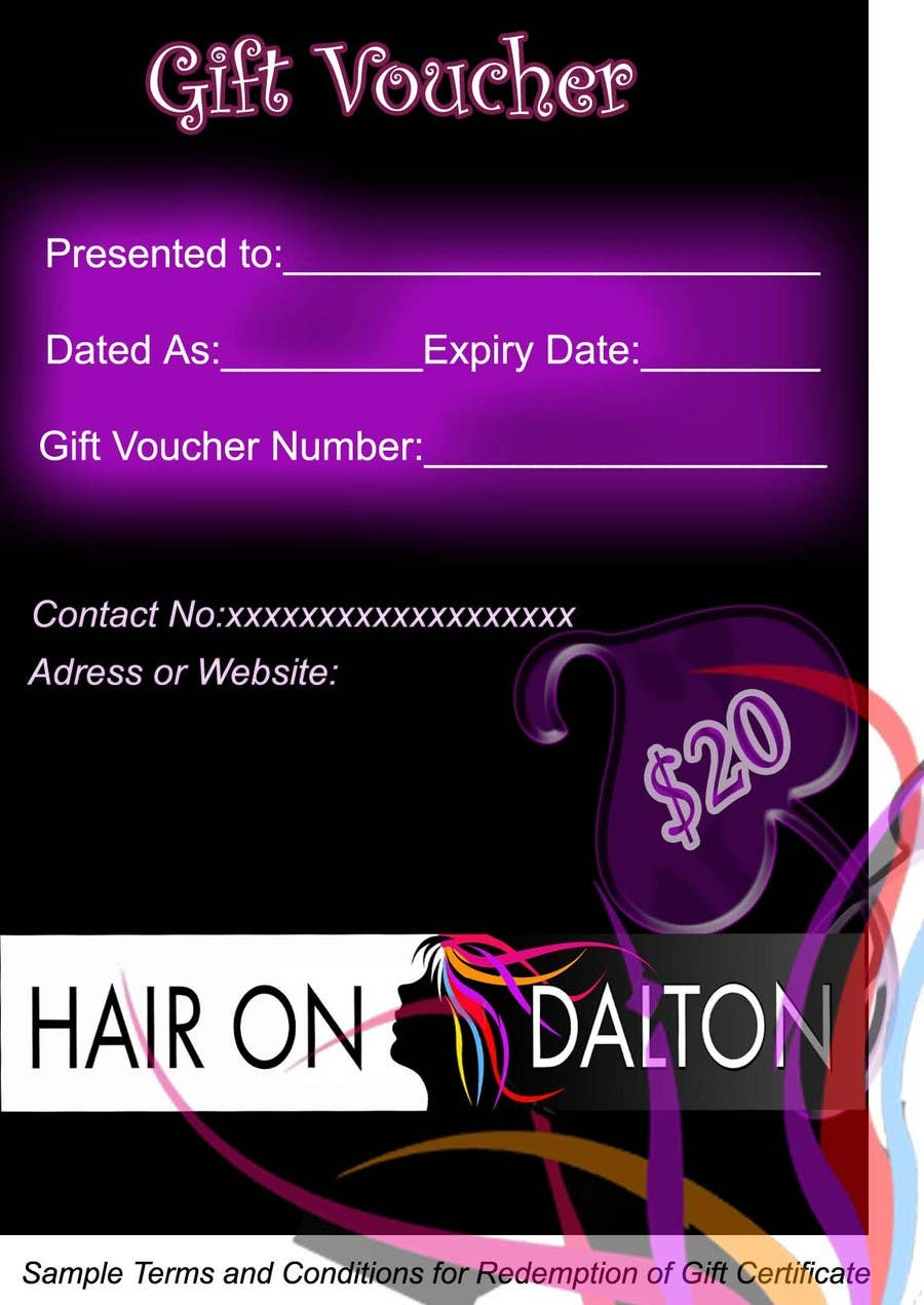 Конкурсная заявка №125 для Stationery Design for HAIR ON DALTON