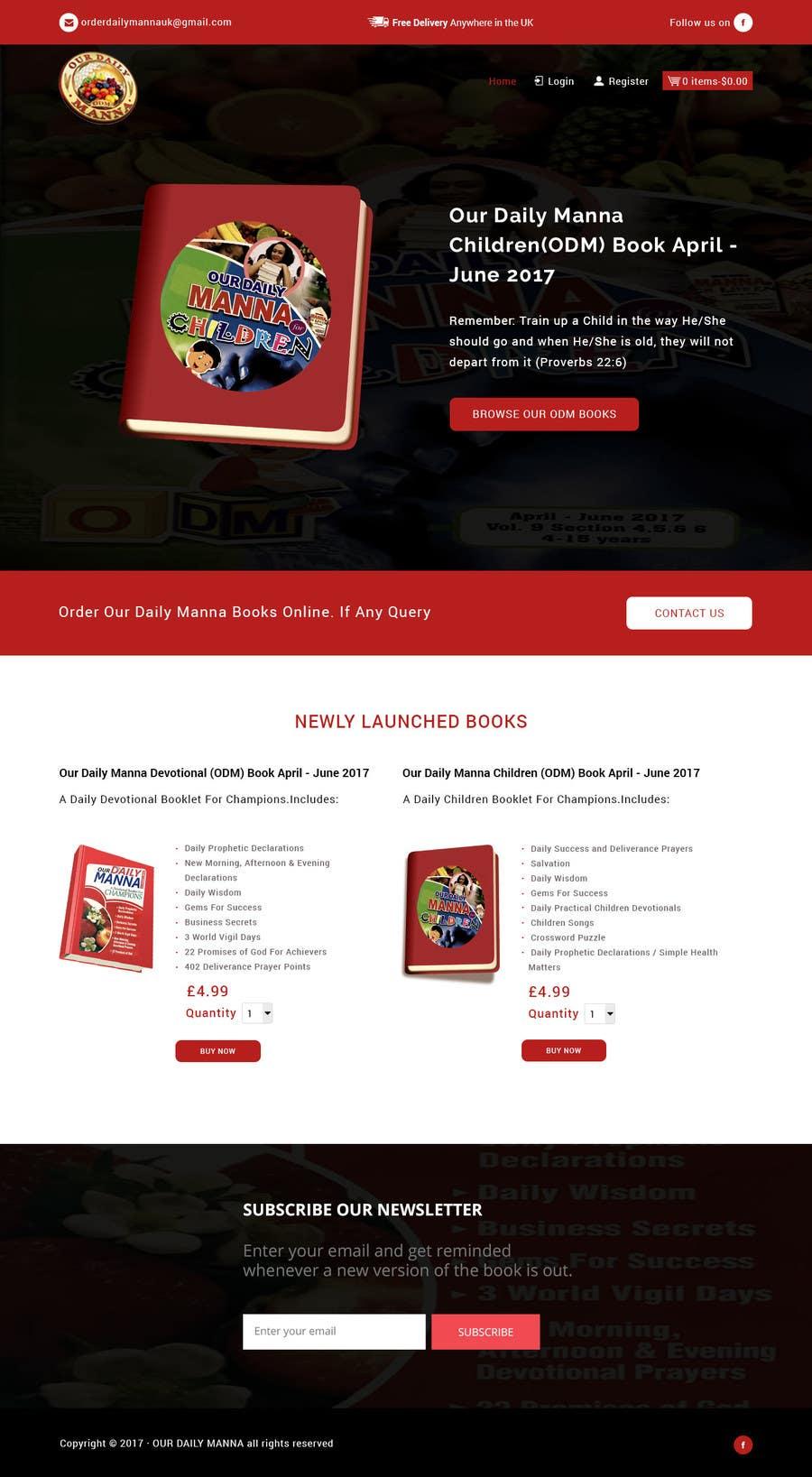 Entry #10 by preyansh1 for Redesign ODM Book Website | Freelancer