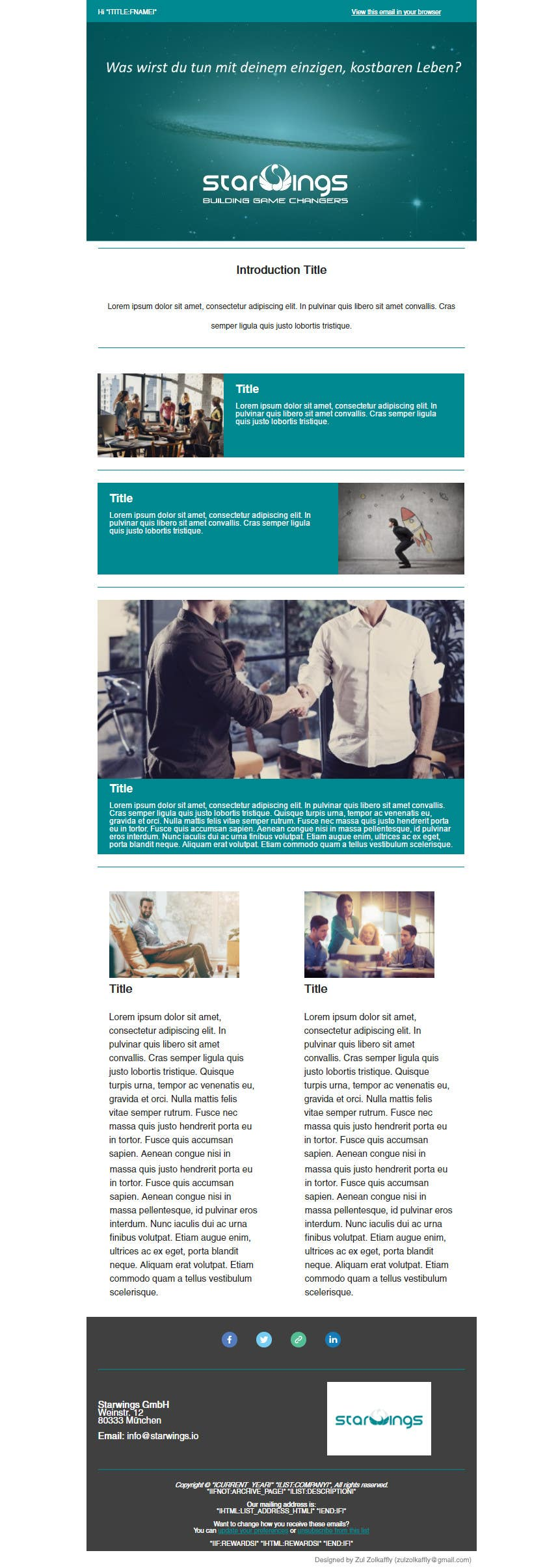 Entry 6 By Zulzolkaffly For Design An Simple Html Newsletter