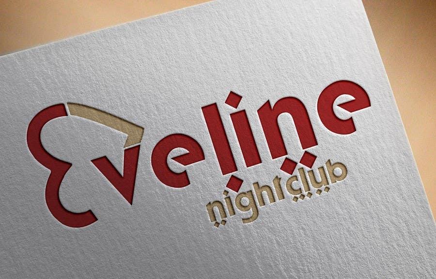 Kilpailutyö #                                        22                                      kilpailussa                                         Nightclub Eveline Logo Modification