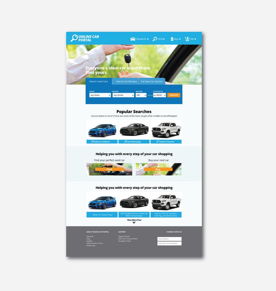 Entry #7 by felixdidiw for Design an Online car portal - Buy