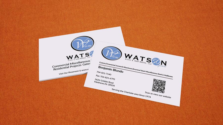 Entry 78 by munnaaziz02 for watston steel design some business business card reheart Choice Image