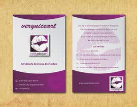 #50 untuk Flyer Design for Very Nice Art Pte Ltd (veryniceart.com) oleh jobee