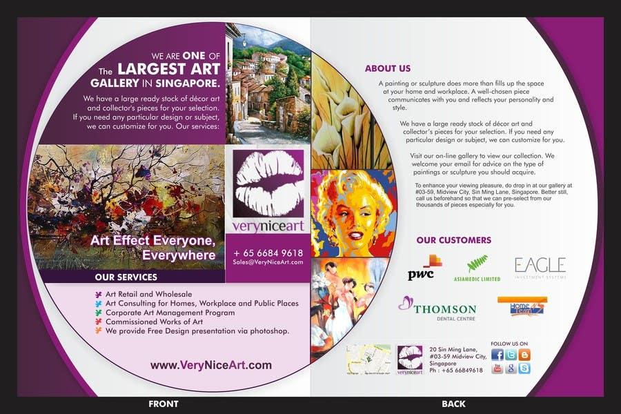 Bài tham dự cuộc thi #58 cho Flyer Design for Very Nice Art Pte Ltd (veryniceart.com)