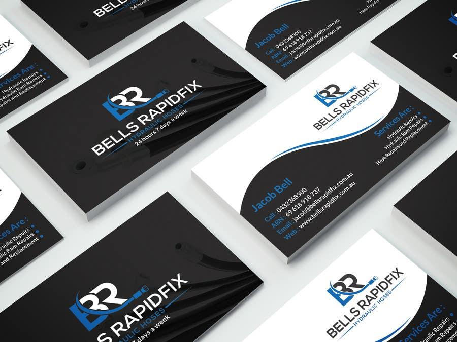 Contest entry 21 for design front and back business cards and sticker