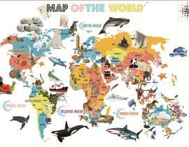 #34 for Illustration Design for World Maps for Kids by project2010steel