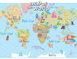 #42 untuk Illustration Design for World Maps for Kids oleh Ferrignoadv