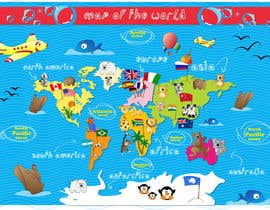 #37 untuk Illustration Design for World Maps for Kids oleh Greta88
