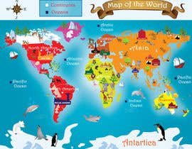 #30 for Illustration Design for World Maps for Kids by MegaArt