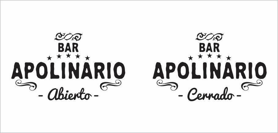 Penyertaan Peraduan #                                        19                                      untuk                                         Diseñar un logotipo for Bar Apolinario