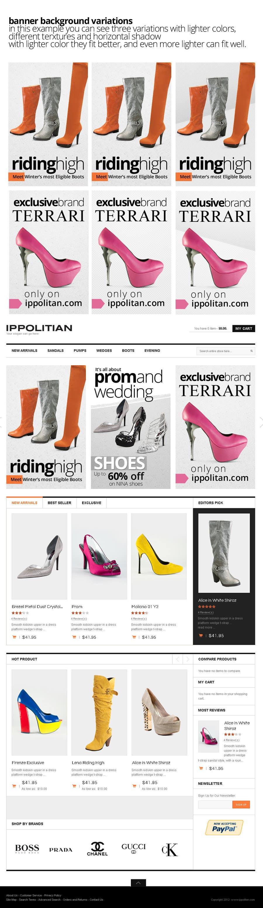 Kilpailutyö #11 kilpailussa Website Design for Re-Design a Theme (Joomla E-Commerce)