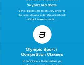 #41 для Website Design / Template Mockup for Martial Arts Club от gravitygraphics7