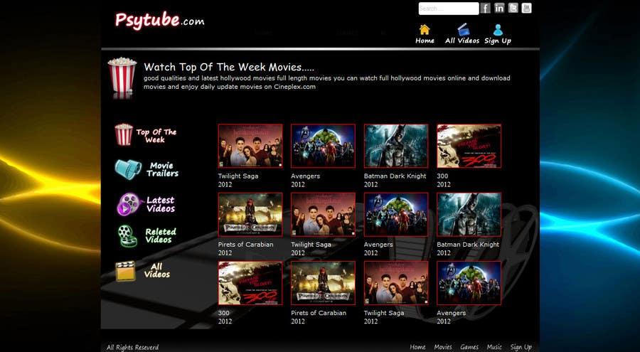 Конкурсная заявка №17 для Website Design for Psytube