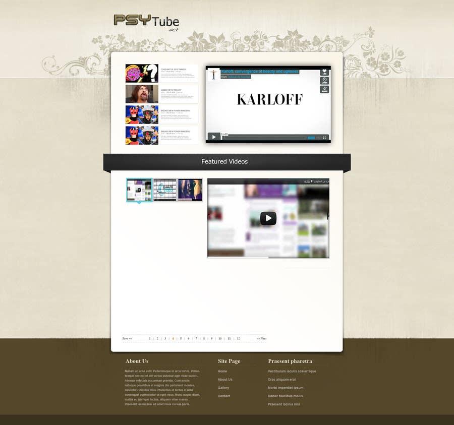 Конкурсная заявка №27 для Website Design for Psytube