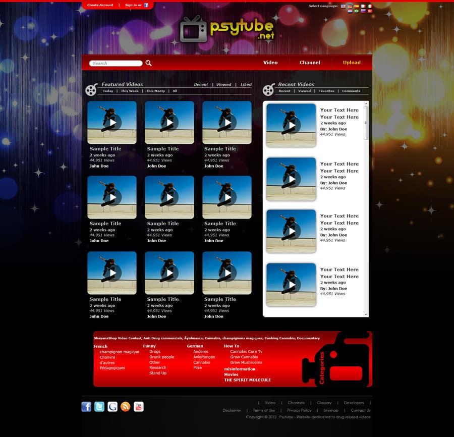 Конкурсная заявка №2 для Website Design for Psytube