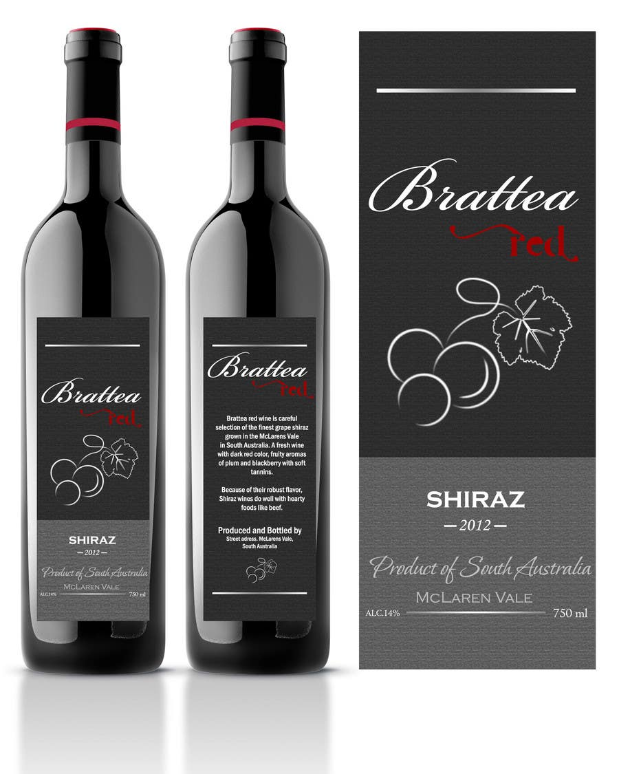 Contest Entry #39 for Print & Packaging Design for a wine brand