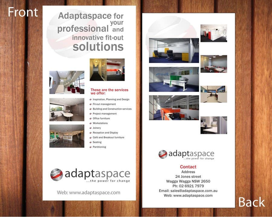Contest Entry #                                        22                                      for                                         Graphic Design/ Marketing / Brochure Card for adaptaspace