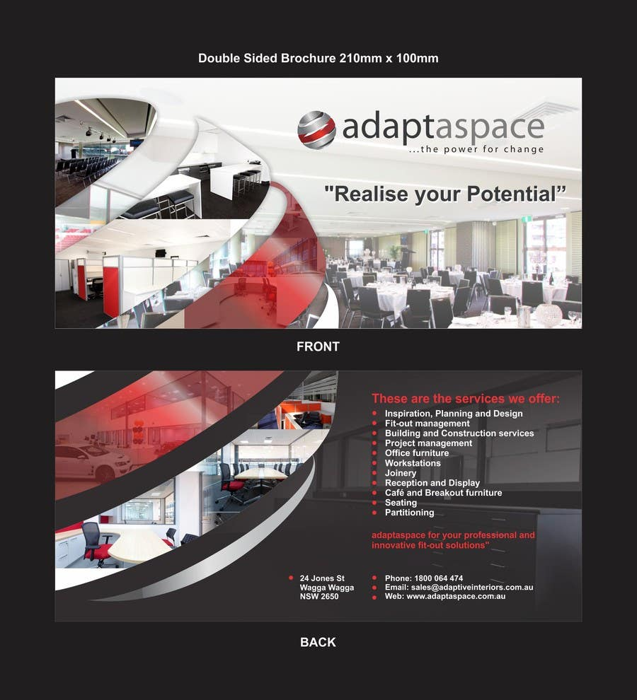 Contest Entry #                                        10                                      for                                         Graphic Design/ Marketing / Brochure Card for adaptaspace