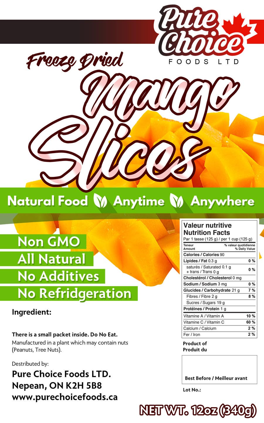 Entry #12 by mitzmitra for Create Food Label  1 Example now   Win 19