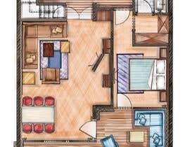 #27 for Hotel Rooms Illustration af alfannan