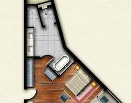#21 for Hotel Rooms Illustration af abdomostafa2008